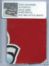 CARL EDWARDS 2007 OFFICE DEPOT FORD AUTHENTIC NASCAR RACE USED SHEETMETAL #3