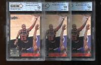 (3) Count Lot Michael Jordan 2009-10 Upper Deck #23 Chicago Bulls GEM MINT 10