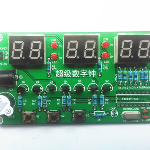 Electronic Clock  KIT 6 LED RED Digits Stop Watch Countdown Timer DIY UK SELLER