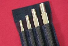 Solid Brass Drift Punch Kit BROOKS-USA knurled 4pc tool set US made 4pcs & pouch