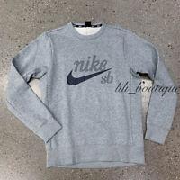 NWT Nike SB 938414-064 Men's Pullover Sweatshirt Crew Neck Dark Gray Heather M