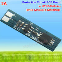 2A 3.2v PCB PCM Protection Circuit Board Module for  LiFePO4 Battery BMS cell