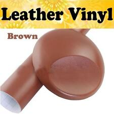 Brown Leather Grain Car Textured Vinyl Car Auto Interior Trim Film Wrap Sticker