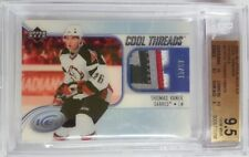 05-06 Thomas Vanek UD Ice Cool Threads Rookie 4 Color Patch Jersey BGS 9.5 /50