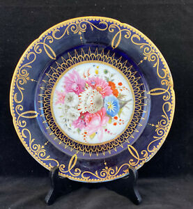 Very RARE COALPORT Plate by John Rose circa 1805  Hand Painted Floral Bouquet