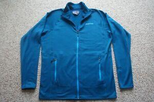 Patagonia Men's Teal Blue Green R1 Full Zip Polartec Waffle Fleece Jacket L