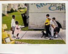 Norman Rockwell New Kids in the Neighborhood Offset Lithograph Unsigned 14x11