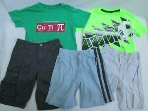 ❤ Boys shirts shorts LOT 4 5 6 outfit short sleeves cotton Gymboree FREESHIP