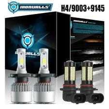 Combo H4 9003 LED Headlight Bulb+H10 9140 9145 Fog Light for 06-11 Toyota Tacoma