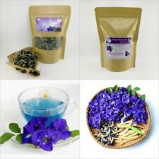 100% Pure Natural Dried Butterfly Pea Tea Blue Drink Flower Herbal Organic 50g.