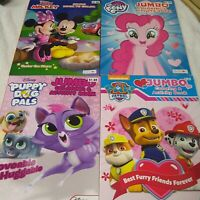 Lot of 4 Coloring Books Puppy Dog Pals Paw Patrol My Little Pony Mickey Mouse