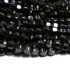 4mm Hematite Manmade Faceted Cube Beads 15 inch Loose Srand