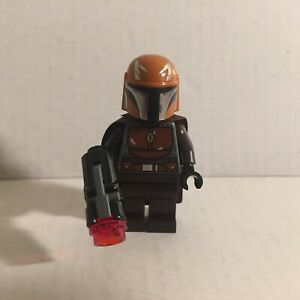 Authentic Lego Star Wars Brown Mandalorian Lego Minifigure with Blaster