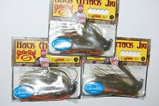 3 jigs lures strike king hack attack jig tour grade 1/2oz bama craw hahcj12-101