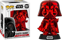Red Chrome Darth Vader Star Wars Funko Pop Vinyl New in Box