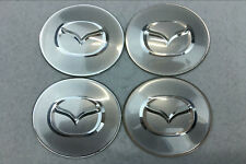4Pcs Car Wheel Center Hub Cap Covers emblem 65mm fit for Mazda Mazdaspeed Silver