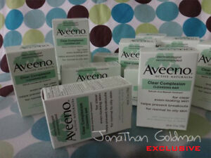 LOT OF 3 - Aveeno Active Naturals Clear Complexion Cleansing Soap Bar 3.5oz NEW