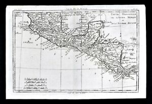 1780 Bonne Map Central America Mexico Yucatan Guatemala Costa Rico Panama Belize