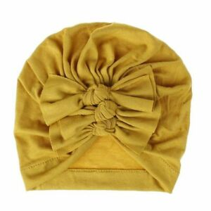 Baby Hat For Girls Bows Turban Infant Photography Props Kids Cotton Beanie Cap