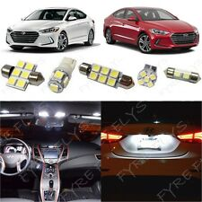8x White LED light interior package kit for 2017 & Up  Hyundai Elantra YE3W