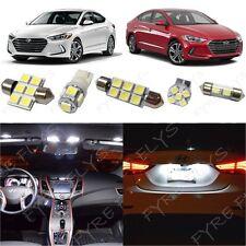 8x White LED light interior package kit for 2017 & Up  Hyundai Elantra YE3W