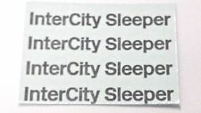 TRIANG HORNBY LIMA COACH BR INTERCITY SLEEPER TRANSFERS, WATER SLIDE, DECALS X4