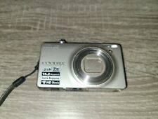 Nikon COOLPIX S6000 14.2MP Digital Camera - Silver with battery USED