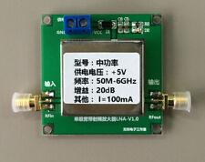 50MHz-6GHz UHF 2.4G Broadband Low Noise Amplifier RF LNA Amp Module 20DB VHF HF