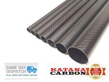 Matt OD 25mm x ID 23mm x 1000mm (1 m) 3k Carbon Fiber Tube (Roll Wrapped) Fibre