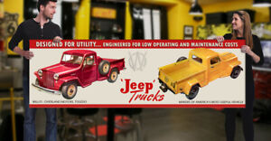 1948 Willy's Dealer Garage Banner Hot Rod Truck Panel Jeep Pickup Overland