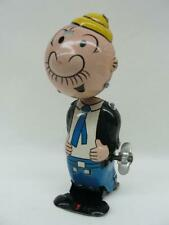 RARE! 1950'S LINE MAR POPEYE TIN WIND UP WIMPY NODDER COMIC CHARACTER TOY