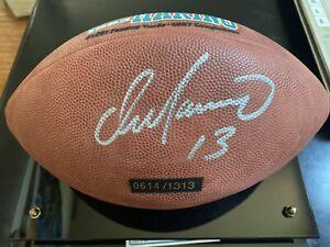 Dan Marino Football Wilson NFL Signed Auto Miami Dolphins Mounted Memories COA