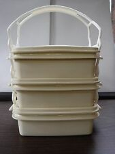Superseal 3 piece Ivory containers for Camping Tail Gating - Very Nice - Israel