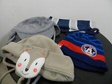 lot 3 bonnets 1 écharpe taille 1-4 ans Dpam Disney tbe (B13)