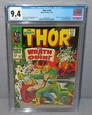 THOR #147 (Jack Kirby Loki cover) CGC 9.4 NM White Pages Marvel Comics 1967