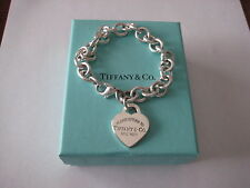 "Authentic Tiffany & Co. Return to Tiffany Heart Tag Bracelet - 7.75"" with Box"