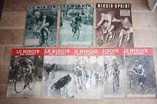 """Ancien ! LOT 7 Revues """"LE MIROIR DES SPORTS"""" 1939/1941 + 1 revue """"MIROIR-SPRINT"""""""