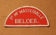 "BSA BELOEIL QUEBEC ""1st McMASTERVILLE"" RED AND WHITE CITY STRIP   A01181"