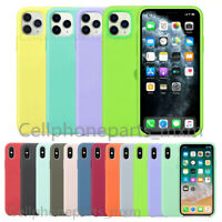 Original Silicone Case Cover For Apple iPhone 11 / 11 Pro Max XR XS Max 7 8 Plus