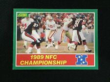1989 NFC CHAMPIONSHIP GAME 49ERS VS BEARS SCORE JOE MONTANA FOOTBALL CARD