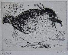 MOREH : Pointe seche originale signée et numerotee. Carte de vœux 1967, editions