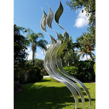 Contemporary Silver Metal Art Indoor Outdoor Sculpture Home Decor a Jon Allen