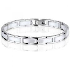 BERING Damen-Armband Keramik weiß Edelstahl Zirkonia 612-15-185