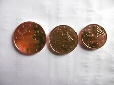 lot de 3 pieces 1,2 et 5 Centimes EURO GRECE-2011-NEUVES