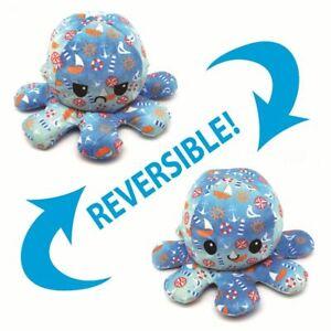 Space Galaxy Octopus Plushie Reversable Emotion Mood Sad Happy Plush Toy Flip