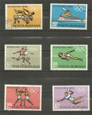 ROMANIA -1972 Olympic Games - Munich, Germany - COMPLETE SET USED