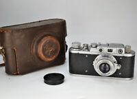 "RANGEFINDER RUSSIAN USSR ""ZORKI 1"" camera + TUBE INDUSTAR-22 lens, f3.5/50 (29)"