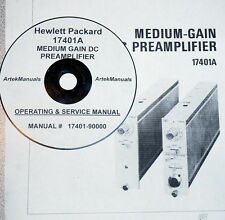 HP 17401A Medium Gain DC Preamp: operating & service manual (good schematics)