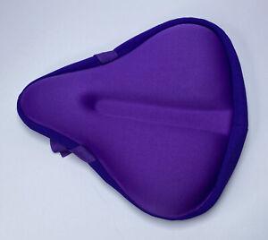 Bike Seat Cushion Padded Gel Wide Adjustable Cover for Men & Womens Comfort