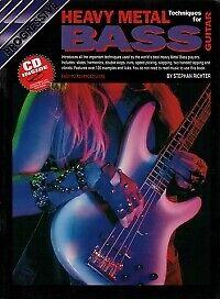PROGRESSIVE HEAVY METAL BASS TECHNIQUE Book & CD